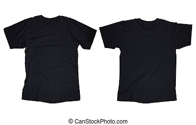 Black T-Shirt Template - Wrinkled blank black t-shirt...