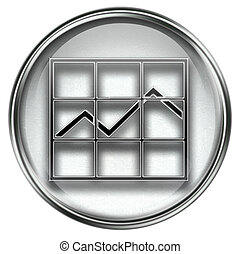 graph icon grey