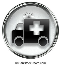 First aid icon grey, isolated on white background.