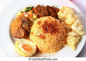 Fried Rice - Fried rice or nasi goreng, served with fried...