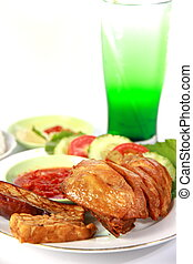 Indonesia Fried Chicken - Indonesian fried chicken or ayam...