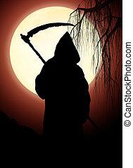 Silhouette of death. Dark art