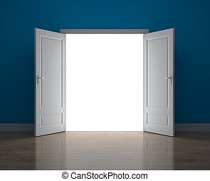 Door to new opportunity - Conceptual image. Door to new...