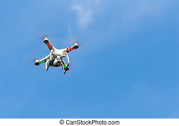 Drone in the sky - Drone of the Fire Service is flying