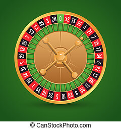 Realistic roulette isolated - Realistic casino roulette...