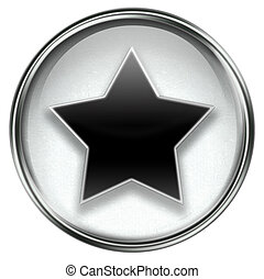 star icon grey, isolated on white background.