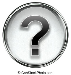 question symbol icon grey