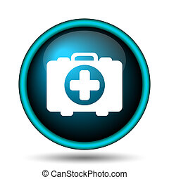 Medical bag icon Internet button on white backgroundMedical Bag Icon