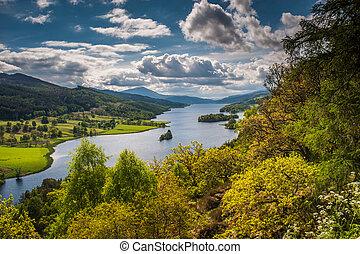 Queens View, Loch Tummel - Queens View near Pitlochry,...