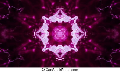 Magenta Black VJ Loop Abstract Looping Animated Background