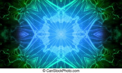 Deep Blue Green VJ Loop Abstract - Science Fiction Blue...