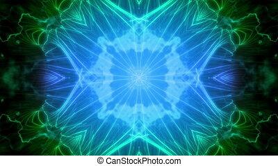 Deep Blue Green VJ Loop Abstract