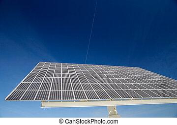 Solar Panels - Solar panel against blue sky. Good for issues...