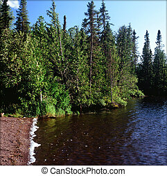 Pristine Brule Lake - Minn. BWCAW - Summer vista on a scenic...
