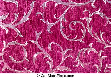 Beautiful pattern on fabric - Closeup beautiful pattern on...