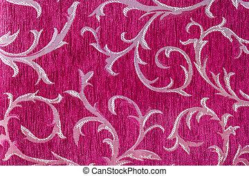 Beautiful pattern on fabric - Closeup beautiful pattern on...