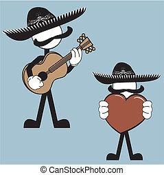 mexican mariachi pictogram cartoon4 - mexican mariachi...