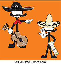 mexican mariachi pictogram cartoon5 - mexican mariachi...