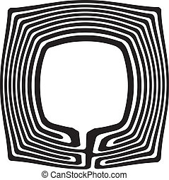 Abstract maze - Abstract image of a concave maze. Vector...