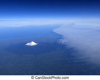 Mt Taranaki, New Zealand - Mount Taranaki or mount egmont on...