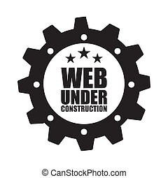 construction design over white background vector...