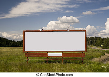 Billboard on the field taken in Finland on July 2009