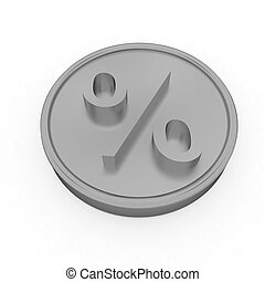 Gold percent coin