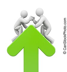 Partnership. Helping hand - Success concept. Isolated on...