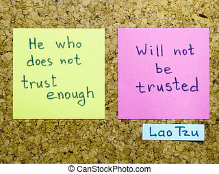 trust enough - famous Lao Tzu quote interpretation with...