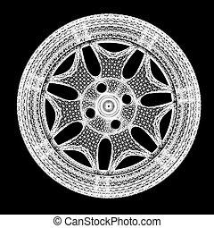 3d model of car wheel rims