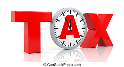 Tax metaphor - Business concept. Isolated on white