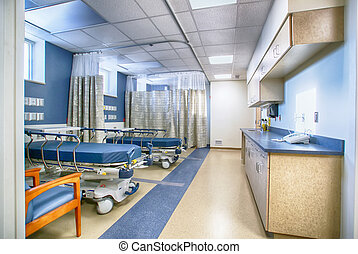 Interior of empty hospital room - Interior of empty hospital...