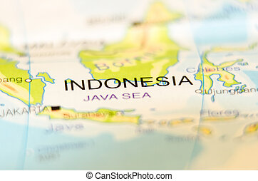 indonesia country on map