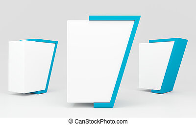blue blank lightbox - Blank advertising billboard abstract...