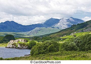 Mountains of Snowdonia - A view of the Snowdonia mountain...