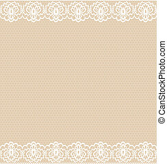 lace border - Template for wedding, invitation or greeting...