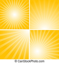 striped backgrounds - Set of striped backgrounds with yellow...
