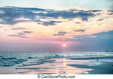 Sunset on Florida Beach - Sunset ongulf of mexico Florida...