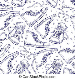 Sneakers. Seamless background.
