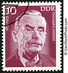 GERMANY - 1975: shows Thomas Mann (1875-1955), writer -...