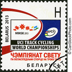BELARUS - 2013: dedicated the Track Cycling World Championship 2