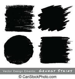 Set of Hand Drawn Grunge backgrounds Vector Illustration
