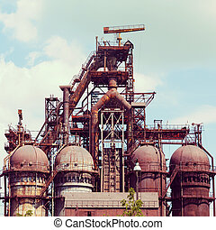 blast furnace at the steel industry - building a blast...