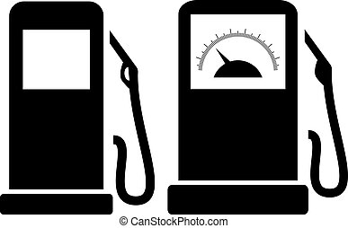 Filling station icon isolated on white background