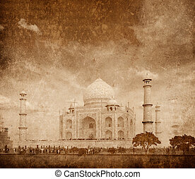 Taj Mahal, Agra, India - Taj Mahal. Indian Symbol - India...