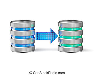 Database backup concept - Creative database backup copy...