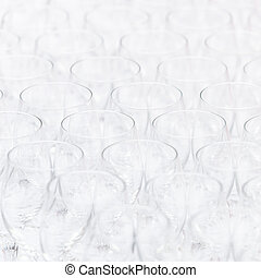 Pattern of empty christal glasses - Background pattern of...