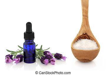 Lavender Herb Essence and Sea Salt