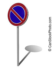 no parking traffic sign, 3d illustration