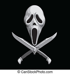 Scream Scary Knife - Scream Scary Thriller Knife Icons...